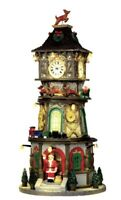 LEMAX Animated Clock Tower Caddington Village Exclusive Sights Sounds 2014 RARE