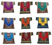 100% Cotton Men Women Kaftan Dashiki African Festival Hippie Poncho T Shirt Long