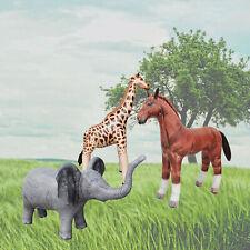 Jet Creations Safari 3 Pack Giraffe Horse Elephant Party Decoration Pool Toy