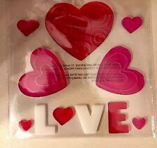Valentines Heart Window Gel Clings Charms Clings Love Window Gel Stickers Wreath