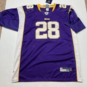 NWT Reebok Authentic NFL Jersey Vikings Adrian Peterson Purple sz 54 Vintage