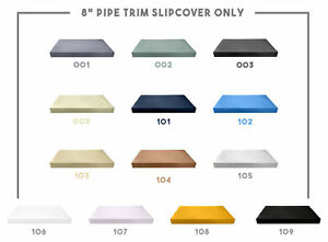 """8"""" Thickness PIPE TRIM Outdoor Daybed Mattress Fitted Sheet Slip Cover Only"""