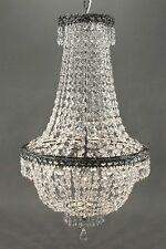 Noble LUSTRE CRISTAL 75cm hauteur 3 Ampoules Plafonnier lustre en cristal