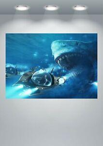 The Meg Shark Movie Large Poster Art Print