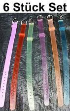 Set 6x Silikon Armband 10mm x 20cm für Slider Schiebe charm Uhrenarmband