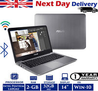ASUS E403S 14-Inch Laptop Intel Pentium N 1.60Ghz 2GB RAM 32GB SSD Windows 10