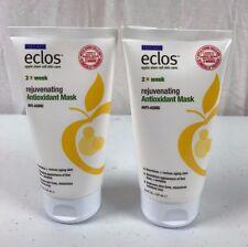 2 Eclos Apple Stem Cell Skin Care Rejuvenating Antioxidant Mask Anti Aging 5 oz.