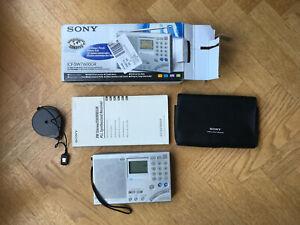 Sony ICF-SW7600GR FM stereo/SW/MW/LW world band receiver, original box & manuals