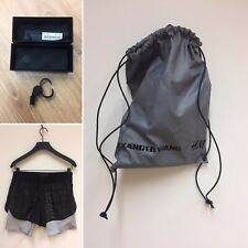 Womens Alexander Wang h&m Shorts BlackReflective Size UK 12 With Bag & Whistle