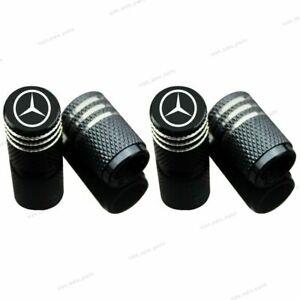 4x Aluminum Wheel Tire Valve Stems Tyre Caps Car Accessories For Mercedes-Benz