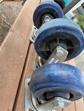 Caster Swivel Lock Wheels 2 5x2 And 1 6x2 Heavy Duty Functioning Good