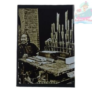 """Matted 8""""x6""""old photograph A Vendor Selling Incense Candles Shanghai China 1930s"""