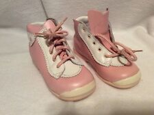 Babybotte B3 Toddler Girls High Top Pink White Leather Shoes 0-13 Made In France