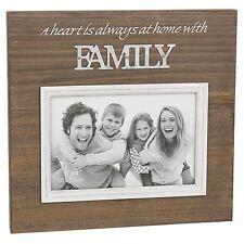 "Family Photo Frame Wood Galvanised 20.5cm High Holds Photo 6 x 4"" 15 x 10cm"