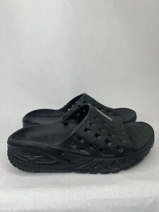 Hoka One One Recovery Slides Slip On Sandals Womens Size 7 Black