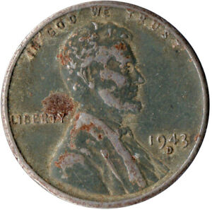USA / 1943D STEEL WHEAT PENNY / WAR PENNY / LINCOLN / COLLECTIBLE  #WT4446