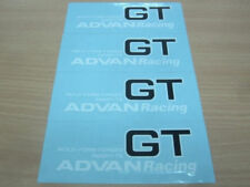 JDM Brand New 4pc Sticker Decals 18-20 inch Rims Wheels Advan Racing GT Forged