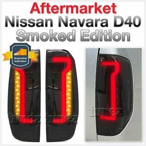 Smoked Black LED Tail Lights Lamp for Nissan Navara D40 2005-2014 ST ST-X RX AT