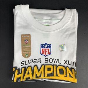 Reebok Pittsburgh Steelers Super Bowl XLIII 2014 T Shirt Size XL