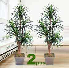 TWO 6' Yucca x5 Artificial Tropical Tree Silk Plant with No Pot,