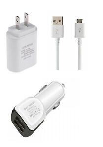Motorola Moto E4/E4 Plus/G5/G5 Plus Charger Kit Wall Car Adapter Micro USB
