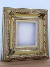 Antiker Prunk Bilderrahmen Holz Stuckrahmen reich verziert Falzmaß: 28,5x23,5 cm