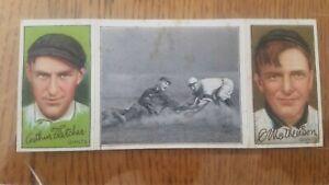 1912 T202 T-202 Hassan Triple Folder Mathewson Fletcher Devlin Gets His Man