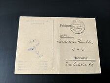 More details for german wwii original call up card herman kunker born 1906 fieldpost hannover