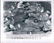 1955 Members of 184th National Guard in Flood Stricken Yuba City CA Press Photo