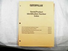 CATERPILLAR SERIAL PRODUCT INDENTIFICATION NUMBER INDEX  PRINTED 1995