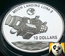 1992 NIUE $10 DOLLAR MOON LANDING LUNA 9 SPACE EXPLORATION SILVER PROOF COIN