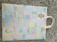Lovely Large Patchwork Vintage Hallmark Baby Shower Gift Bag Birthday Birth