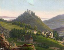 Souvenir de la Suisse, View in Switzerland – Mid-19th-century lithograph print