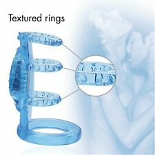 Zinger Vibrating Cock Cage Penis Enhancer Ring Sleeve Sex-toys for Men Couples