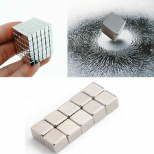 1-100Pcs  Cube Magnets 4/9mm Cube N50 Super Strong Rare Earth Magnet