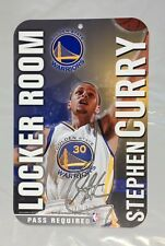 """Steph Curry Golden State Warrior Locker Room Plastic Wall Sign NEW NBA 11"""" x 17"""""""