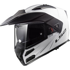 LS2 FF324 Metro Evo Solid White Flip Front Motorcycle Motorbike Helmet Plain ECE