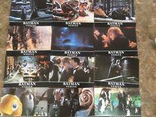 Batman returns original rare1992 spanish poster and set of 12  lobby cards. Rare