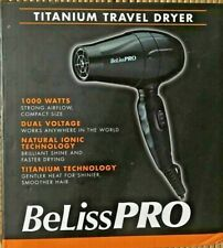 NEW!!! BELISS PRO TITANIUM TRAVEL HAIR BLOW DRYER 1000 WATTS DUAL VOLTAGE IONIC