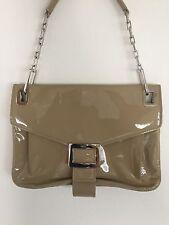 ROGER VIVIER Beige Patent Leather Metro Handbag Purse $2200