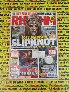 RHYTHM Magazine SEALED Sett  2008+cd Joey Jordison Kenny Aronoff John Dolmayan*4
