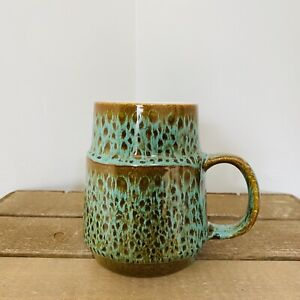 Poole Green Sea Crest Pattern 1 Pint Mug Tankard - 12cm High Excellent Condition