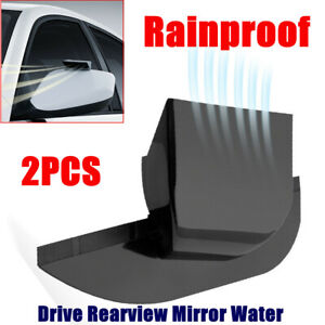 2 Pcs Car Drive Rearview Side Mirror Rain Eyebrow Rainproof Block RearView Cover