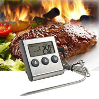 Digital Probe Food Cooking Timer Kitchen BBQ Oven Grill Meat Thermometer Tool BN