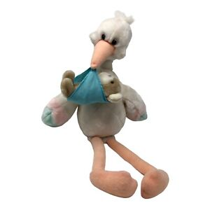 "Applause Plush Stork Stuffed Animal Musical Wind Up 19"" Plays Brahams Lullaby"
