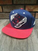 Adidas New Orleans Pelicans NBA Basketball Snapback Hat Cap Zion Blue Red