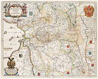MAP 1664 WICHERINGE OVERIJSSEL PROVINCE NETHERLANDS REPLICA POSTER PRINT PAM0169
