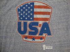 New listing Fifa World Cup Brasil Team Usa American Flag Soccer Rayon Tri Blend T Shirt L