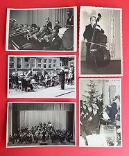 5 x Foto AK um 1940/50 Musiker Orchester Kapelle Band Typen ( 21860