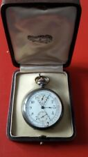 Dial Pulsations Leather Case Antique Pocket Watch Chrono Medical